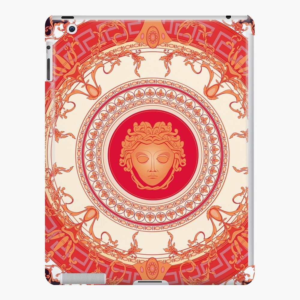 Versace inspiriert Design mit Medusa - Red iPad-Hülle & Skin