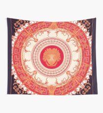 Tela decorativa Diseño inspirado en Versace con Medusa - Rojo