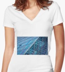 Diagonals in Architecture Women's Fitted V-Neck T-Shirt