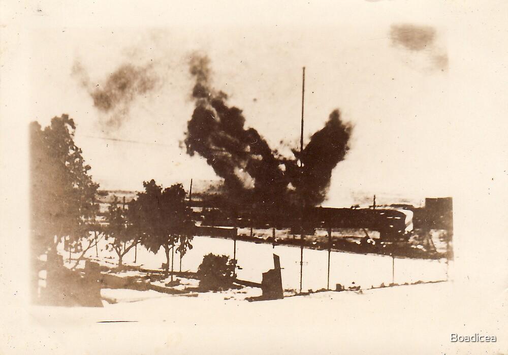Bombs Bursting In Tobruk by Boadicea
