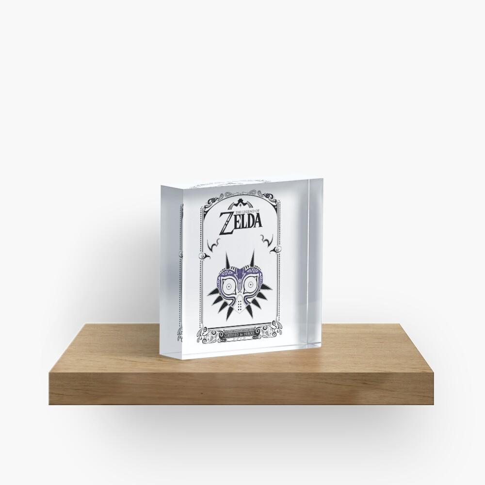 Zelda Legend - Doodle de la máscara de Majora Bloque acrílico