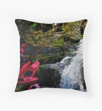 CANOE & ABSEIL  Throw Pillow