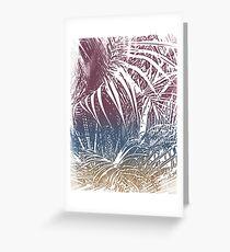 Palm garden Greeting Card