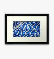 Empty Stands for Swimming Training Framed Print