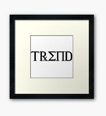TREND Framed Print