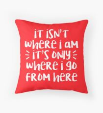 Where I Go From Here | Amelie Throw Pillow