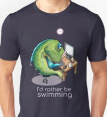Rather be swimming Unisex T-Shirt