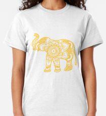 Mandala Elephant Yellow Classic T-Shirt