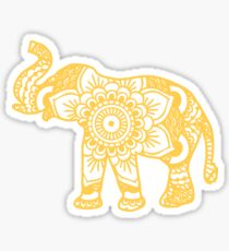 Mandala Elephant Yellow Sticker