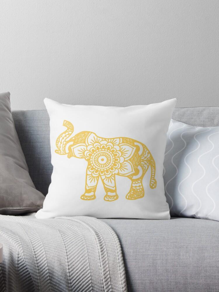 «Mandala Elephant Yellow» de laurauroraa