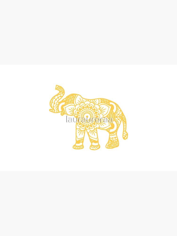 Mandala-Elefant-Gelb von laurauroraa