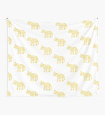 Mandala Elephant Yellow Wall Tapestry
