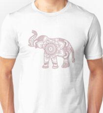 Mandala Elephant Lilac Unisex T-Shirt