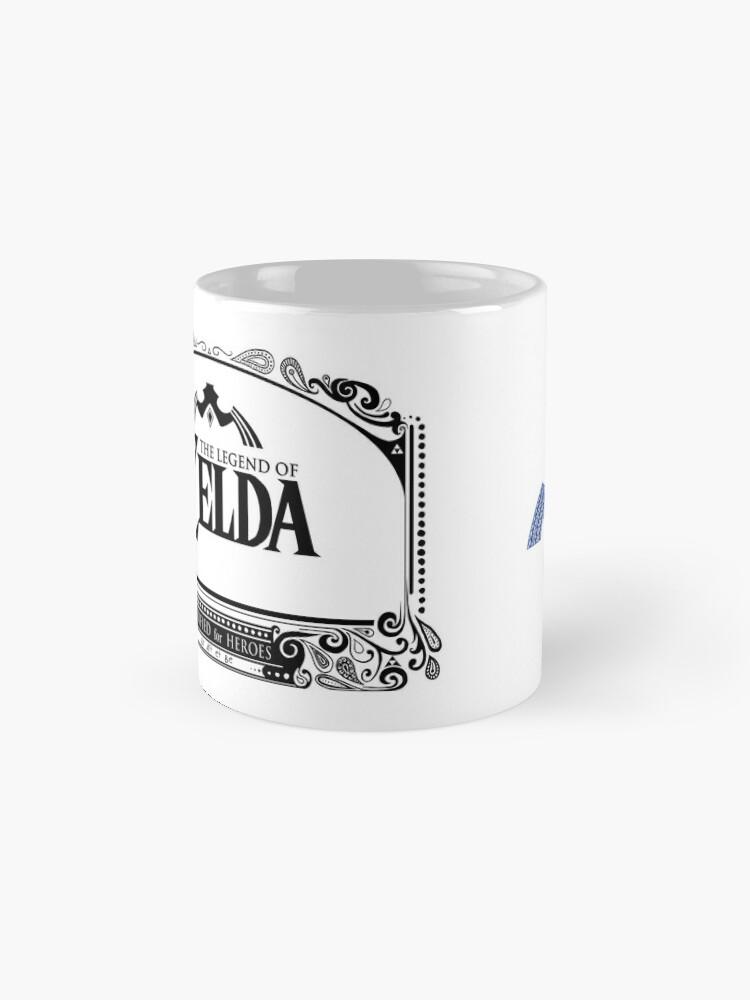 Vista alternativa de Tazas Leyenda de Zelda - enlace Espada doodle