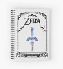 Leyenda de Zelda - enlace Espada doodle Cuaderno de espiral