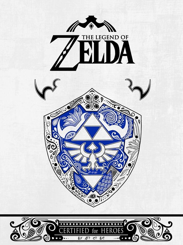 Zelda Legende - Link Shield Gekritzel von artetbe