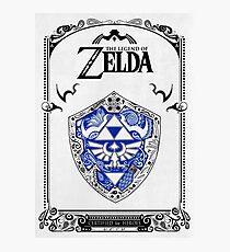 Zelda legend - Link Shield doodle Photographic Print