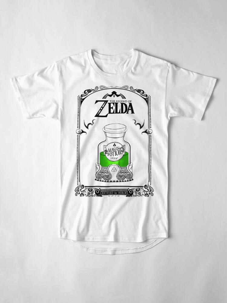 Vista alternativa de Camiseta larga Leyenda de zelda - poción verde