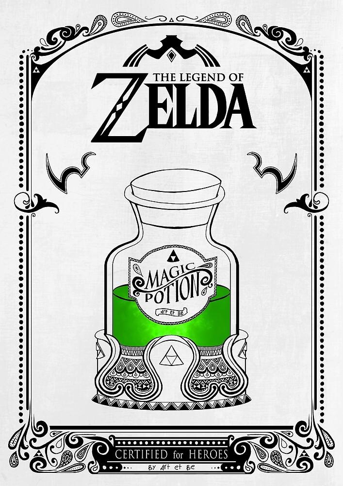 Zelda Legende - grüner Trank von artetbe