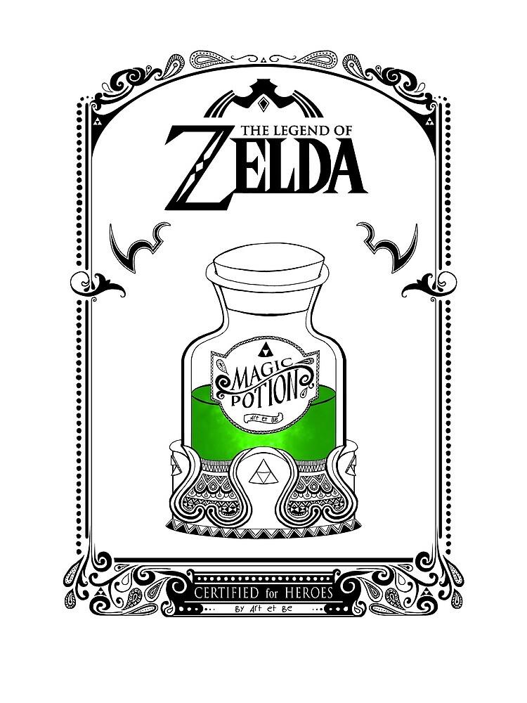 Leyenda de zelda - poción verde de artetbe
