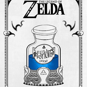 Leyenda de zelda - poción azul de artetbe