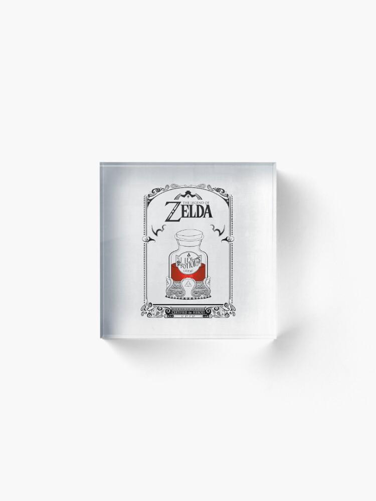 Vista alternativa de Bloque acrílico Leyenda de zelda - poción roja