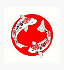 Japanese koi Art Print