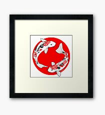 Japanese koi Framed Print
