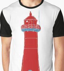 Lighthouse Grafik T-Shirt