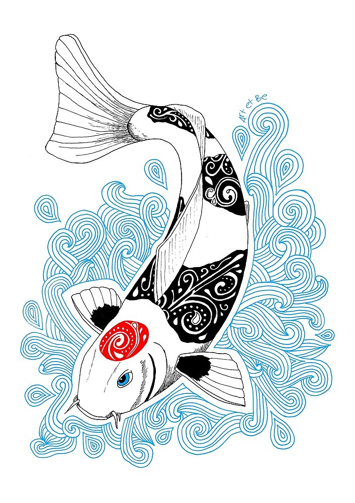 «Pescado koi Tancho» de artetbe