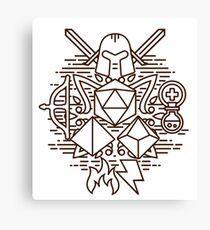 RPG minimal Canvas Print