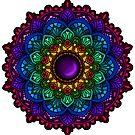 Rainbow Mandala Purple Gemstone by WelshPixie