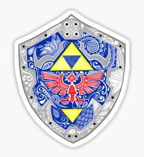 Zelda - Link Shield Doodle Pegatina