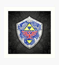 Lámina artística Zelda - Link Shield Doodle