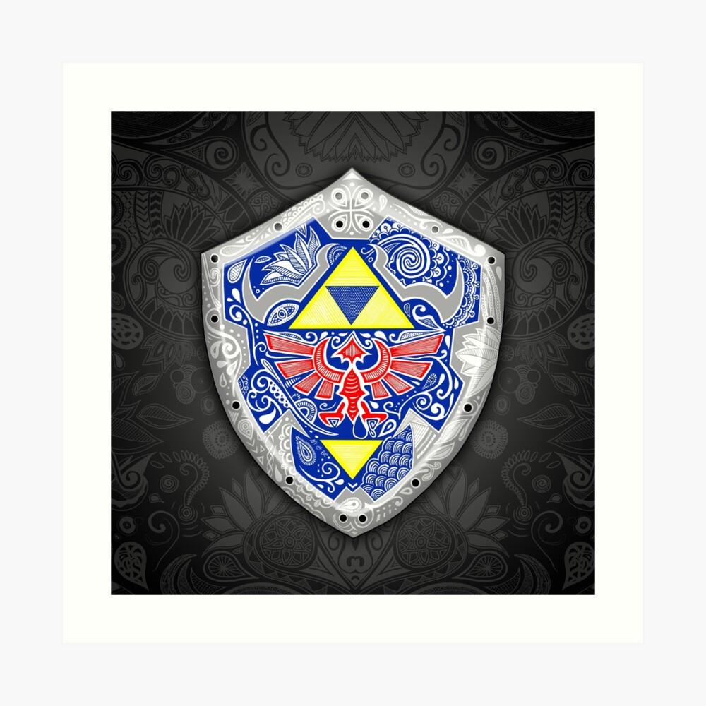 Zelda - Link Shield Doodle Lámina artística