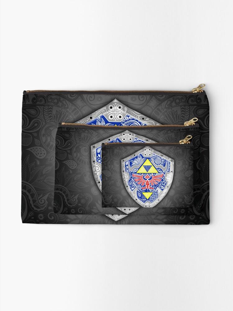 Vista alternativa de Bolsos de mano Zelda - Link Shield Doodle