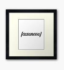 Casanova Text Framed Print