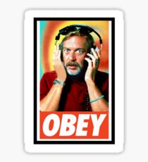 Obey Johnny Fever WKRP Sticker