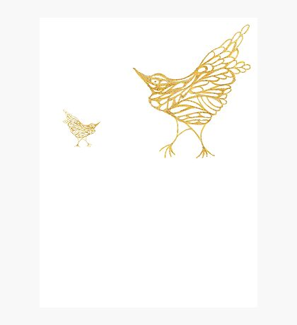 Gold Birds Photographic Print