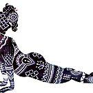 African Yoga Art by balgrittella