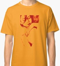 As Heaven Awaits: Red (sexy nude portrait drawing) Classic T-Shirt
