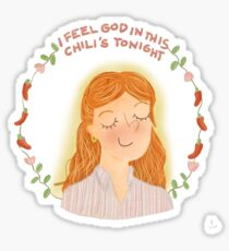 Pam Beesly at Chili's Sticker