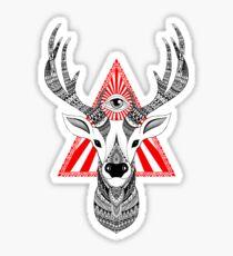 ciervos místicas Pegatina
