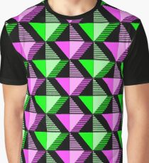 Green Pink Diamond Graphic T-Shirt