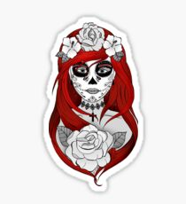 Santa Muerte - El pelo rojo Pegatina