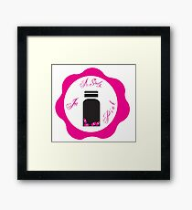 A Study in Pink 'Wax Seal' Framed Print