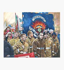 United. Fire Brigades Union March painting Photographic Print