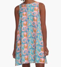 WHIMSICAL OCTOPUS A-Line Dress