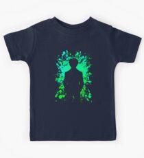Yusuke Inspired Paint Splatter Anime Shirt Kids Tee