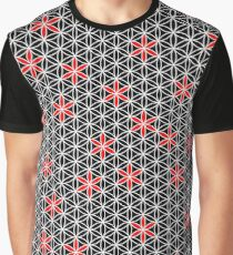 Flower Of Life Pattern black red white Graphic T-Shirt